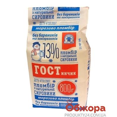Мороженое ПломбирОфф  (Plombiroff) ГОСТинчик 800 г – ИМ «Обжора»