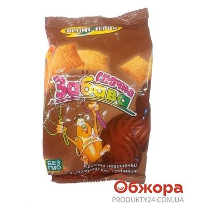 Кукурузные подушечки Золотое зерно Забава шоколадные 100 г – ИМ «Обжора»