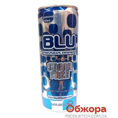 Напиток энергетический Блю (BLU)  без сахара 0,25л. – ИМ «Обжора»