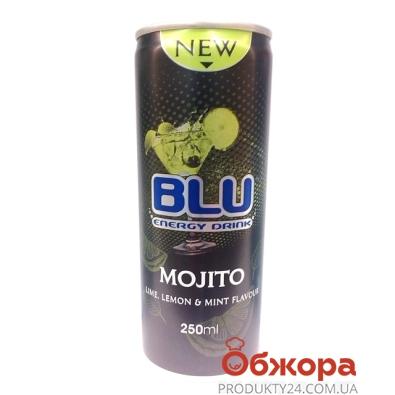 Напиток энергетический Блю (BLU) Мохито 0,25л. – ИМ «Обжора»