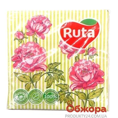 Салфетки Рута (Ruta) Флора 33*33 20шт – ИМ «Обжора»