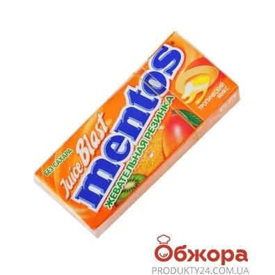 Жевательная резинка Ментос (Mentos) Пью Фреш тропический микс 15 г – ИМ «Обжора»