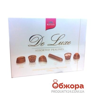 Конфеты Корона Де люкс молочный шоколад 146 г – ИМ «Обжора»