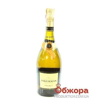 Вино игристое Инкерман (INKERMAN) полусладкое белое 0,75л – ИМ «Обжора»