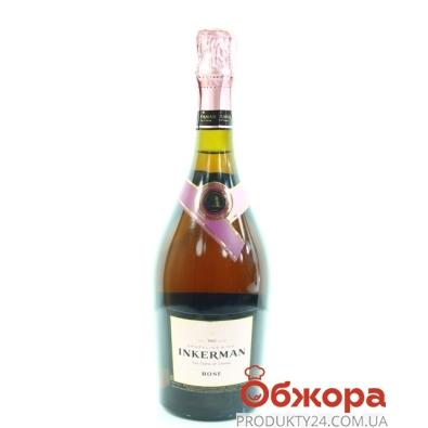 Вино игристое Инкерман (INKERMAN) полусладкое рожеве 0,75л – ИМ «Обжора»