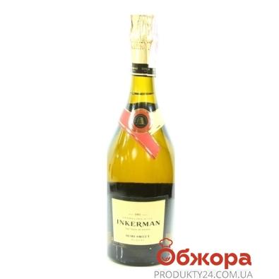 Вино игристое Инкерман (INKERMAN) полусладкое мускатне 0,75л – ИМ «Обжора»