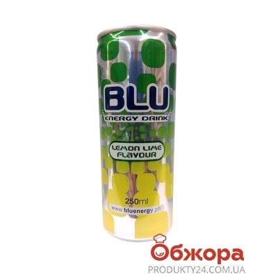 Напиток энергетический BLU  Лимон-лайм 0,25л. – ИМ «Обжора»