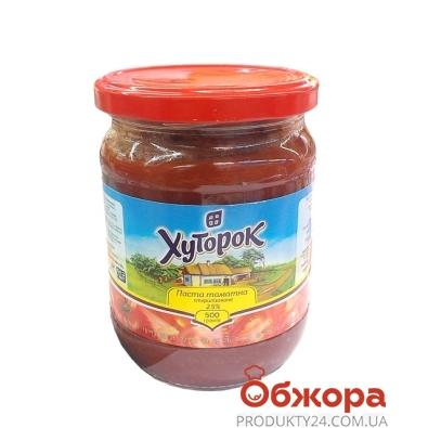 Томатная паста Хуторок 500гр 25% – ИМ «Обжора»