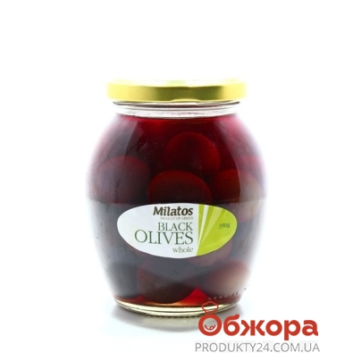 Оливки Милатос черные с/к 350 г – ИМ «Обжора»