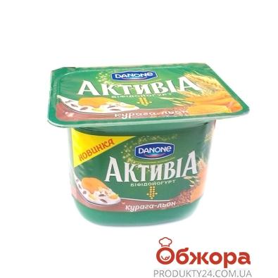 Йогурт Активиа курага-лён 3% 140 г – ИМ «Обжора»