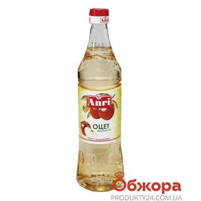 Уксус Анри (Anri) яблочный 6 % 0,85 мл – ИМ «Обжора»