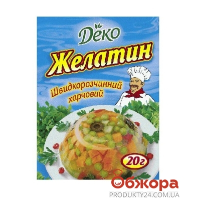 Желатин Деко 20 г – ИМ «Обжора»