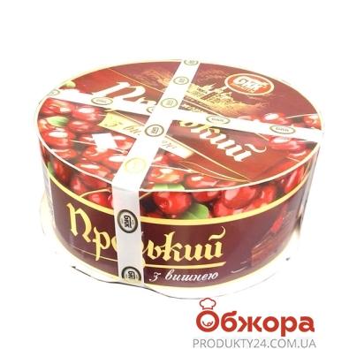 Торт БКК(Булочно-кондитерский комбинат) Пражский с вишней 1 кг – ИМ «Обжора»