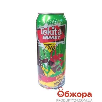 Напиток слабоалкогольная Текита Энерджи Трио Ром-Джин-Кола 0,5л ж/б – ИМ «Обжора»