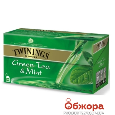 Чай Твайнинг (Twinings) Зеленый с мятой 25 п – ИМ «Обжора»