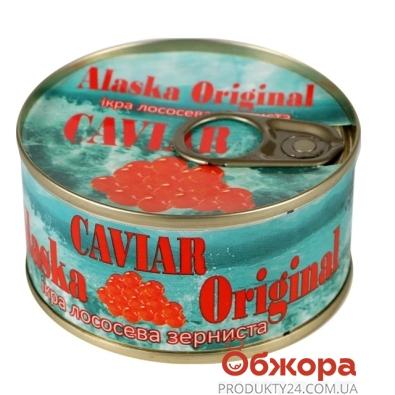Икра красная Аляска Оригинал 120 г – ИМ «Обжора»