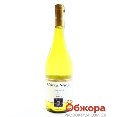 Вино Карта Вьеха (Carta Vieja) Шардоне белое сухое 0,75 л – ИМ «Обжора»