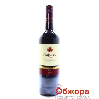 Вино Торрес (Torres) Natureo красное сухое б/алк. 0,75 л 0.5% – ИМ «Обжора»