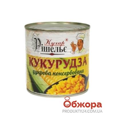 Кукуруза Кухар Ришелье 420 г ж/б – ИМ «Обжора»
