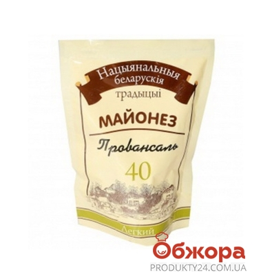 Майонез Белорусские традиции Лёгкий 40% 180 г – ИМ «Обжора»