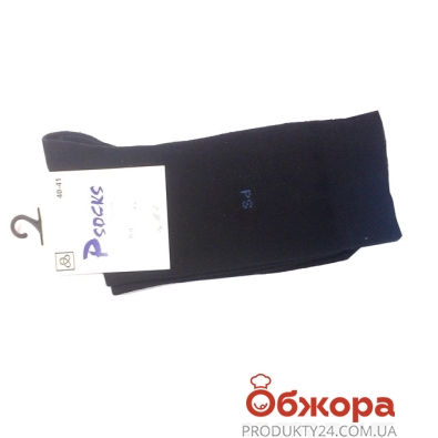 Носки Псокс (Psocks) Лого PS черные 40-41 р – ИМ «Обжора»