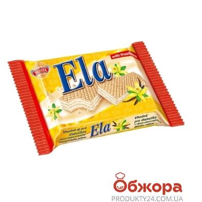Вафли Седита (Sedita) Ela Кремово-ванильные на фруктозе 40 г – ИМ «Обжора»