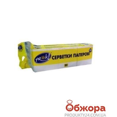 Салфетки PrOK Эконом белые 300 шт – ИМ «Обжора»