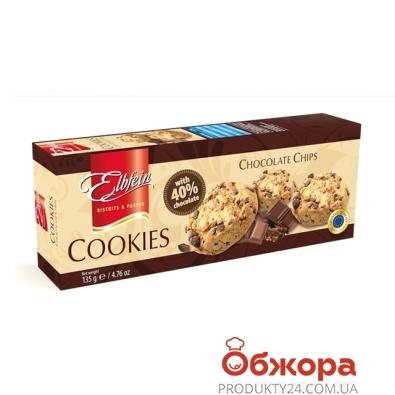 Печенье Эльбфайн (Elbfein) с шоколадом 40% 135 г – ИМ «Обжора»