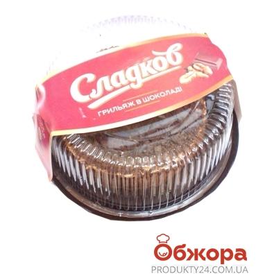 Торт Сладков Грильяж в шоколаде 500 г – ИМ «Обжора»