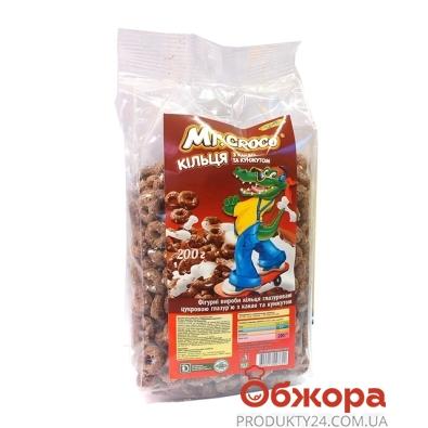 Кукурузные колечки Золотое Зерно mr.Croko Какао/кунжут 200 г – ИМ «Обжора»