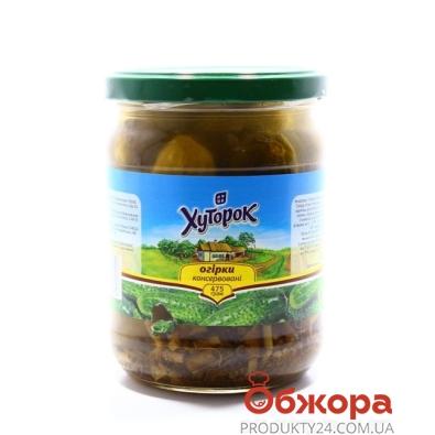 Огурцы Хуторок маринованные 500 г – ИМ «Обжора»