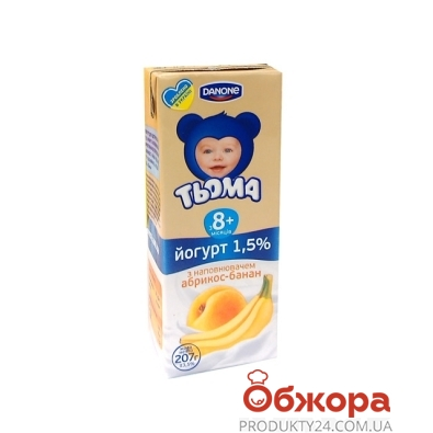 Йогурт Тема Абрикос-банан 1,5% 207 г – ИМ «Обжора»
