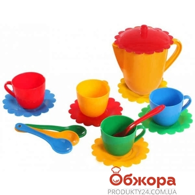 Посуда Тигрес Ромашка на 4 персоны с чайником – ИМ «Обжора»