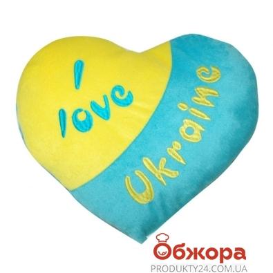 Подушка-сердце Тигрес (Я люблю Украину) – ИМ «Обжора»