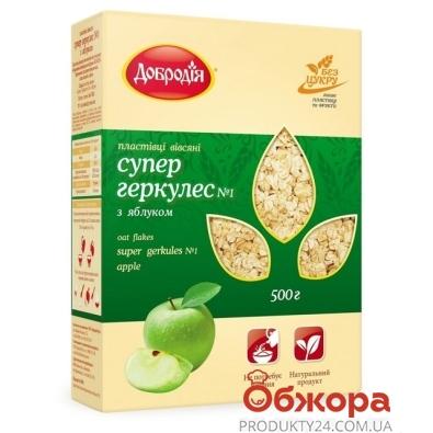 Хлопья Добродия овсяные СуперГеркулес яблоко 500 г – ИМ «Обжора»