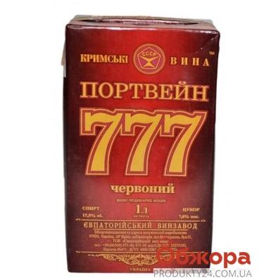 Вино Портвейн  777 красное крепленое 1л – ИМ «Обжора»