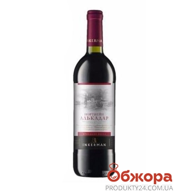 Вино Инкерман (INKERMAN) Портвейн Алькадар десертное красное 0,75 л – ИМ «Обжора»