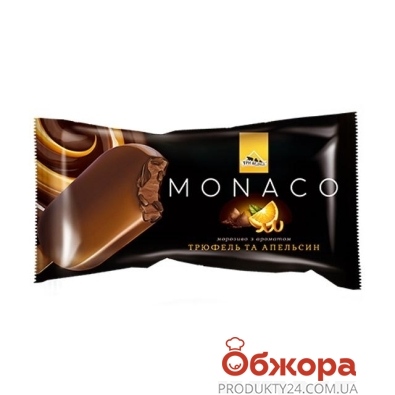 Мороженое Три медведя Monaco Трюфель-апельсин, 80 г – ИМ «Обжора»