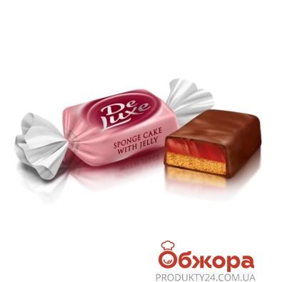 Конфеты Рошен ДеЛюкс бисквит желе – ИМ «Обжора»