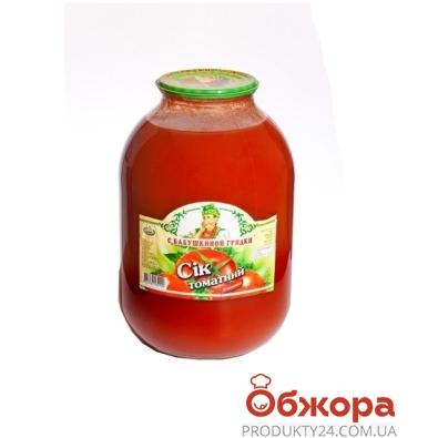 Сок С бабушкиной грядки томатный 3 л – ИМ «Обжора»