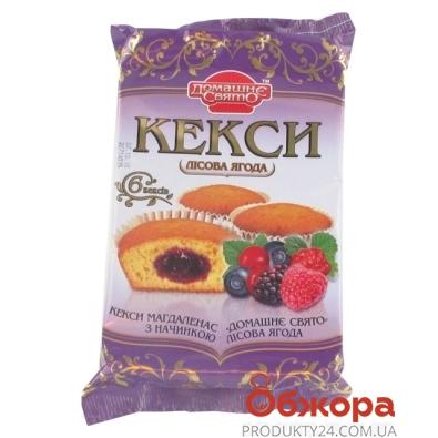Кекс Домашне Свято лесная ягода 210 г – ИМ «Обжора»