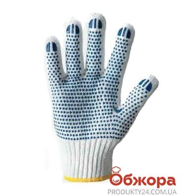 Перчатки рабочие Долони с синей точкой ПВХ 202 – ИМ «Обжора»