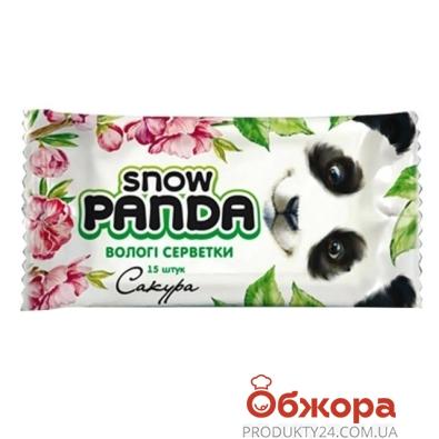 Салфетки Снежная панда Сакура влажные 15 шт – ИМ «Обжора»