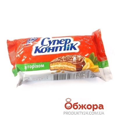 Печенье Конти (Konti) Супер-Контик орех в молочной глазури 100 г – ИМ «Обжора»