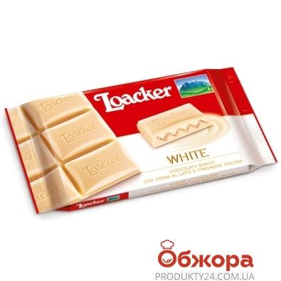 Шоколад Лоакер (Loacker) белый с хрустящими вафлями молочной начинкой 87 г – ИМ «Обжора»
