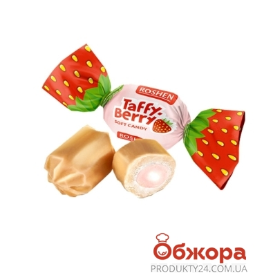 Конфеты Рошен (Roshen) кар Taffy berry клубника йогурт вес – ИМ «Обжора»
