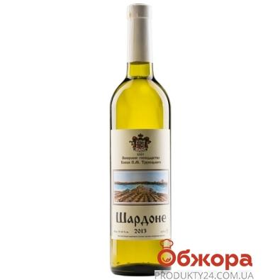 Вино Князя Трубецкого Шардоне ординарное белое сухое 0,75 л – ИМ «Обжора»