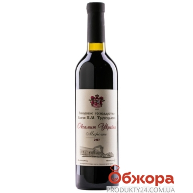 Вино Князя Трубецкого Оксамит Украины красное марочное сухое 0,75 л – ИМ «Обжора»