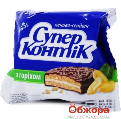 Печенье Конти (Konti) супер-контик орех 50г – ИМ «Обжора»