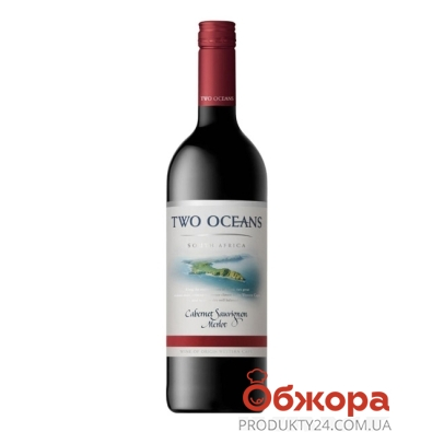Вино Ту Ошенс(Two Oceans) Каберне Совиньон Мерло 0,7л – ИМ «Обжора»